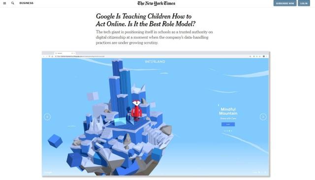 Google NY Times