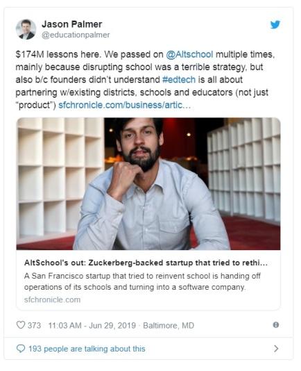 Altschool tweet