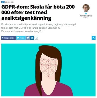 Sweden facial recognition ban